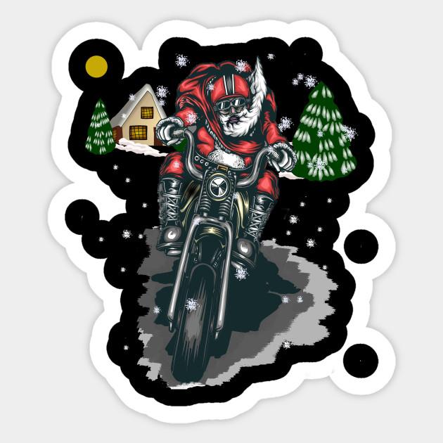 Biker Christmas.Christmas Biker