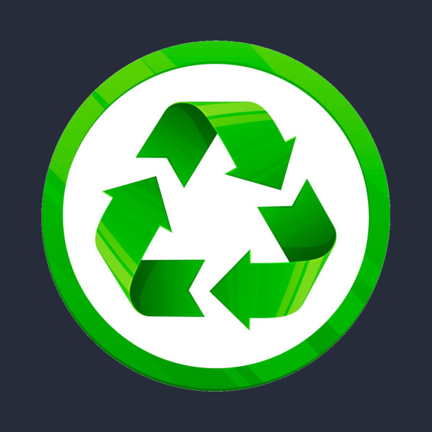 Reduce Reuse Recycle Universal Green Symbol Eco Green Kids Long