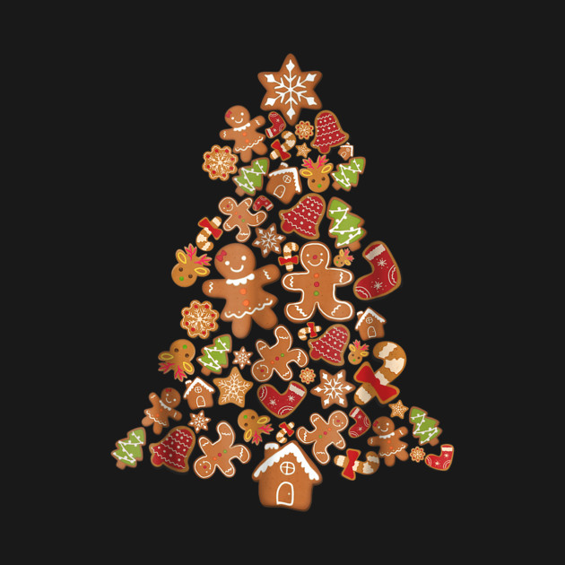 Gingerbread Christmas Tree.Jolly Gingerbread Christmas Tree Gingerbread Decor