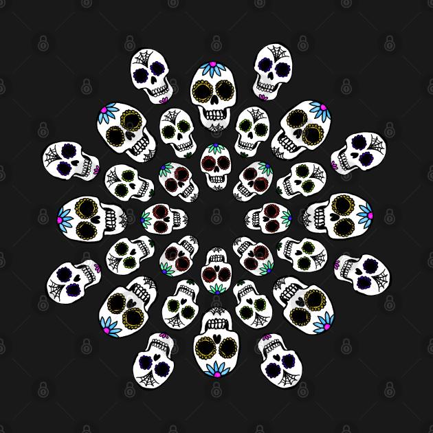 Sugar Skulls in a Circle