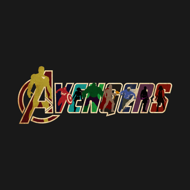avengers minimalist logo marvel tshirt teepublic