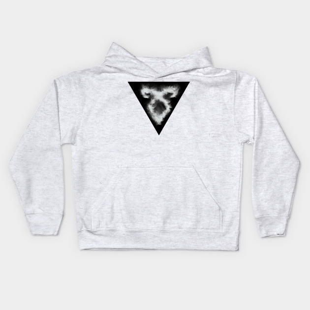 Shadowhunters rune / The mortal instruments - sand explosion with triangle (white) - Parabatai - gift idea