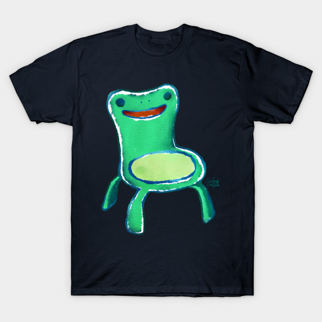 Froggy Chair Animal Crossing Watercolor Texture Cute Kawaii