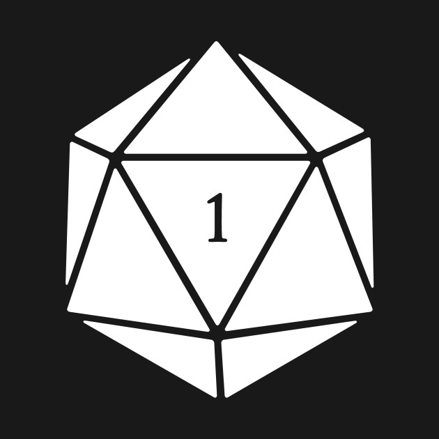 Funny D20 Roleplaying Game Dice