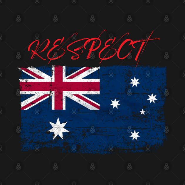 Respect with the Australian worn Flag