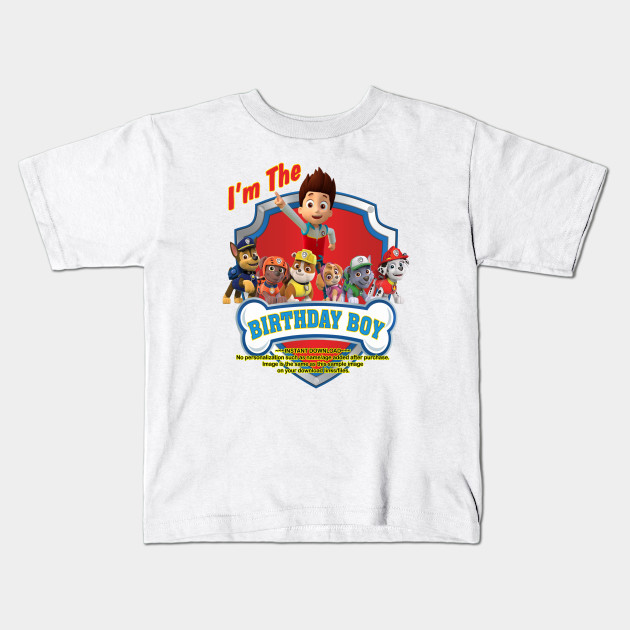 Paw Patrol Birthday Kids T Shirt