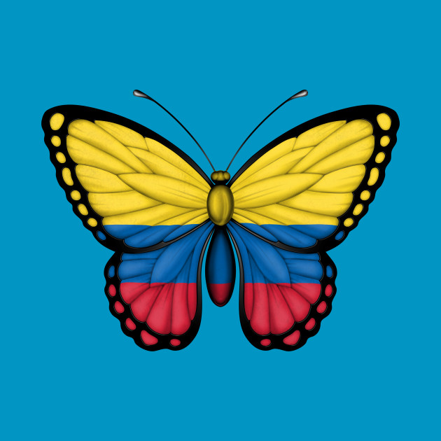 colombian flag butterfly colombia t shirt teepublic