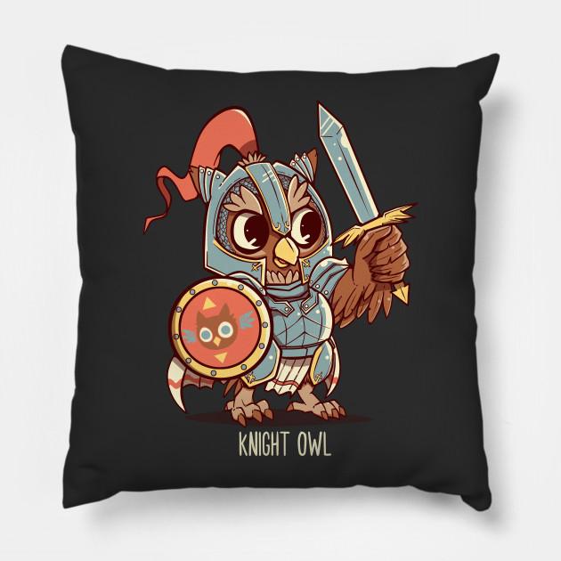 30b11b739 Knight Owl Animal Pun Shirt - Knight Owl - Pillow | TeePublic