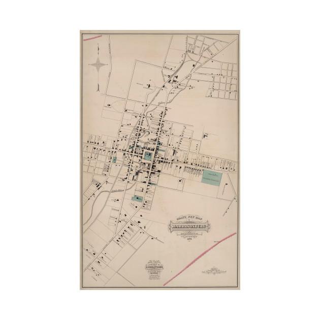 Vintage Map Of Harrisonburg Virginia 1877 Harrisonburg Map T