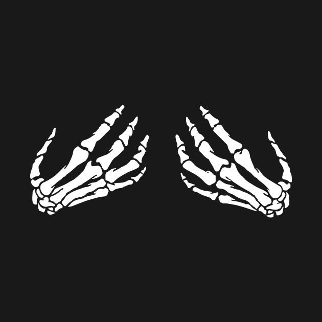 skeleton hand bra - skeleton hands on boobs