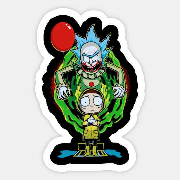 Rick And Morty Halloween Rick And Morty Sticker