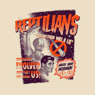Reptilians T-Shirts | TeePublic