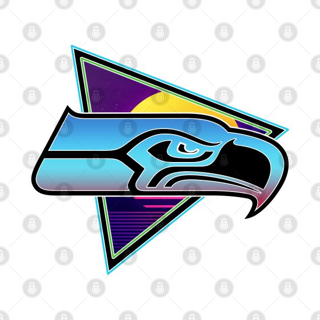 Vaporwave Seahawks