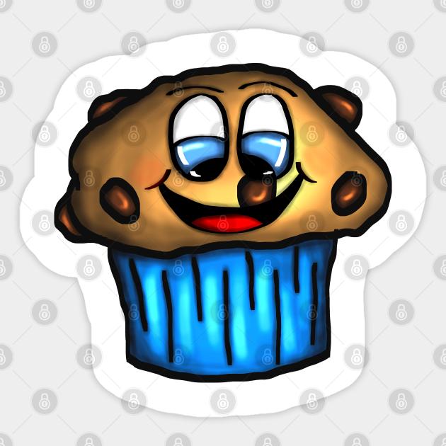 Cute Smiling Chocolate Chip Muffin Muffin Sticker Teepublic