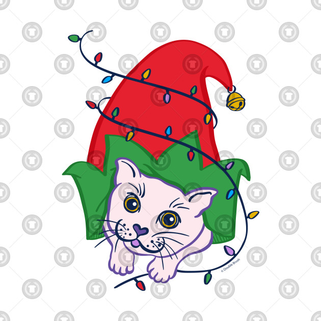 Cute Christmas Pictures.Cute Christmas Cat In Santa S Elf Hat