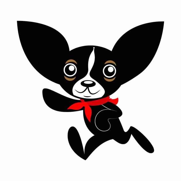 Chihuahua Hola Rico with red bandana smooth hair