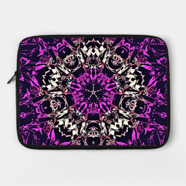 Purple and silver kaleidoscope design