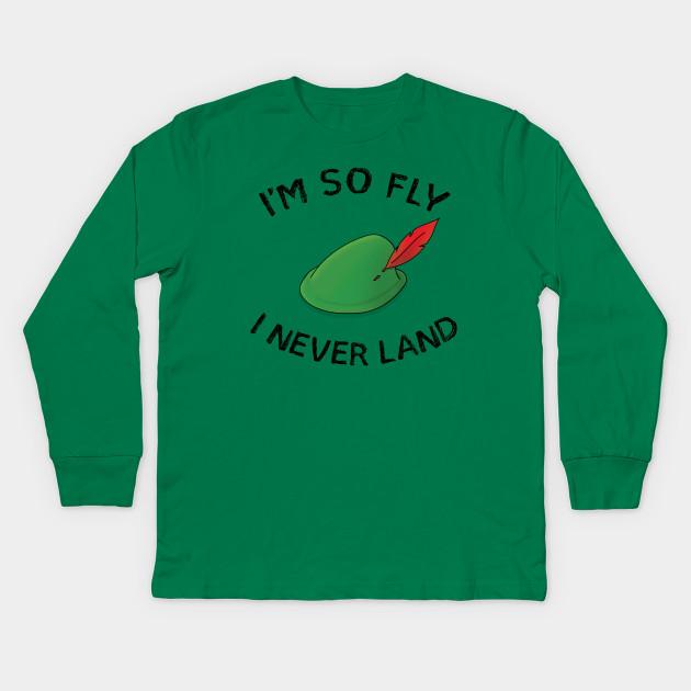 950d5839a Fly Boy - Peter Pan - Kids Long Sleeve T-Shirt   TeePublic