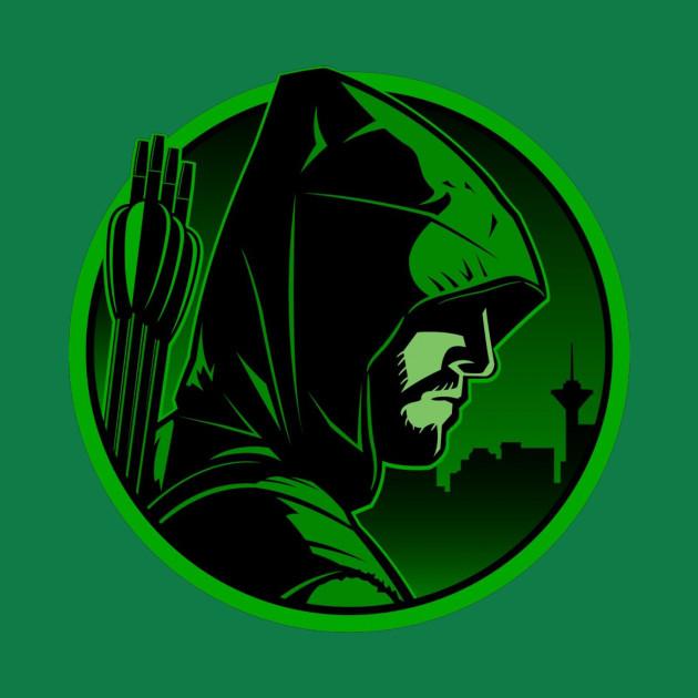 Green Arrow Art Emblem - Arrow - Pillow   TeePublic
