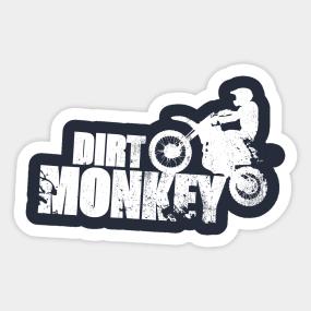 Dirt Monkey Bike Sticker