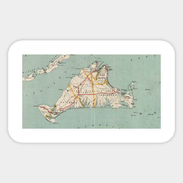 Marthas Vineyard Map on
