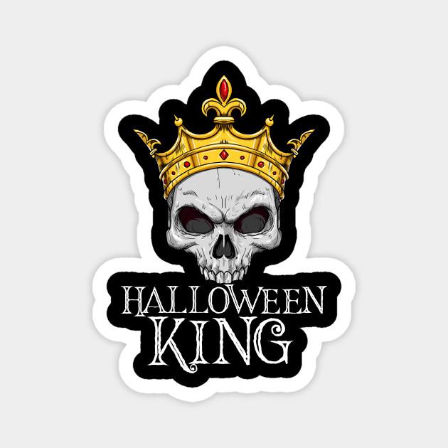 Halloween King With Crown - Creepy Skull
