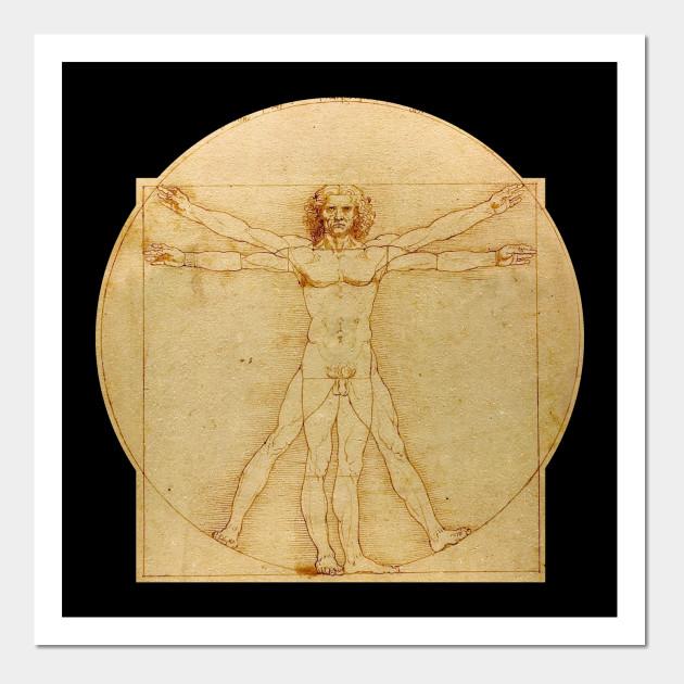 Leonardo da Vinci - Vitruvian Man - Leonardo Da Vinci - Wall Art ...