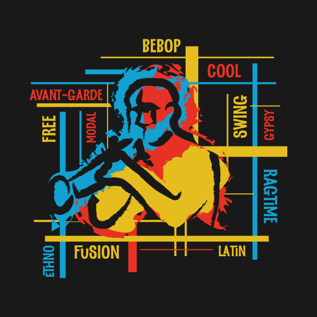 Colorful Jazz Genres With Trumpet Player