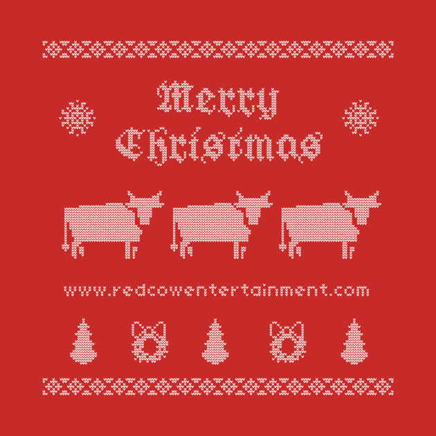 Red Cow Christmas Sweater