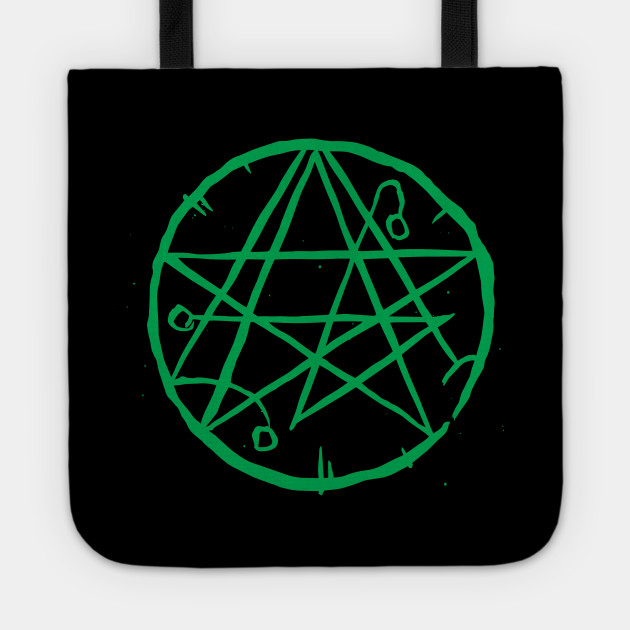 Necronomicon Occult Symbol Gothic Horror Distressed Design