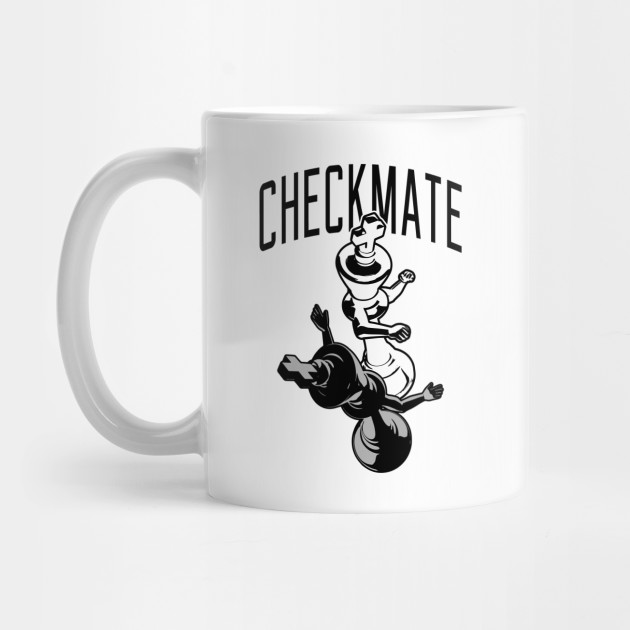 5d833c3d4 Checkmate Punch Funny Boxing Chess T-shirt - Chess - Mug | TeePublic