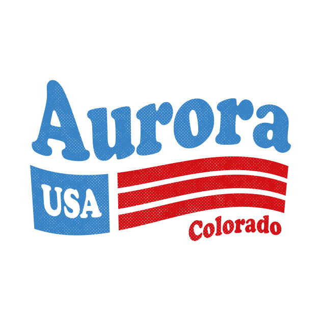 Aurora Colorado - CO, USA - American Flag 4th of July