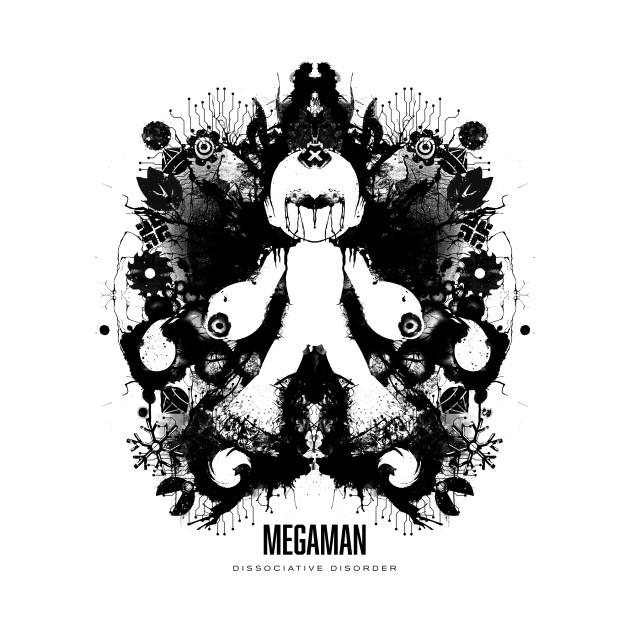 Megaman Ink Blot Geek Psychological Disorder T-Shirt thumbnail