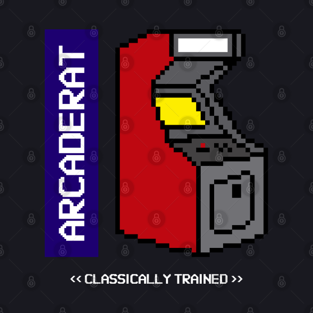 Arcade Rat Classically Trained Pixel Art