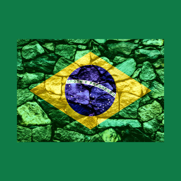 Flag of Brazil - Stone