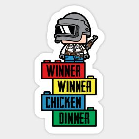 Winner Winner Chicken Dinner Stickers Teepublic
