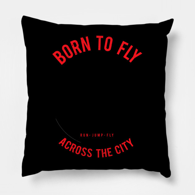 Funny Parkour design Gift - Born To fly Free running graphic