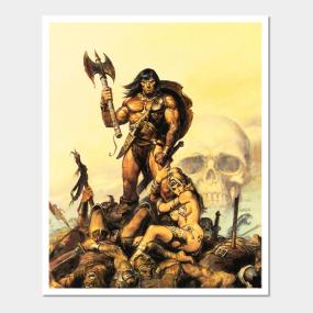 Conan The Barbarian Posters and Art Prints | TeePublic UK