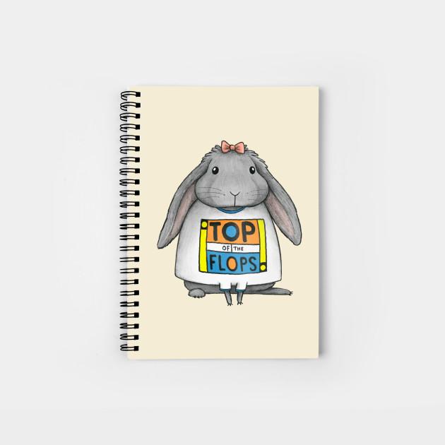 Top Of The Flops Rabbit Notebook Teepublic