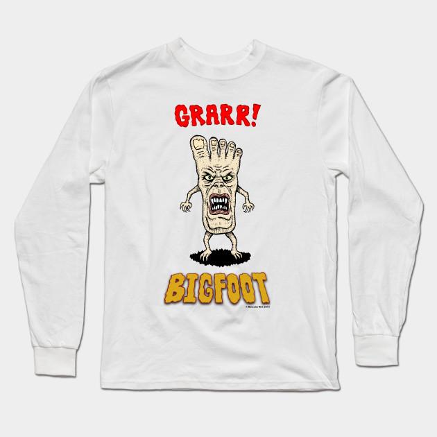 8361e11d Bigfoot - Foot - Long Sleeve T-Shirt | TeePublic
