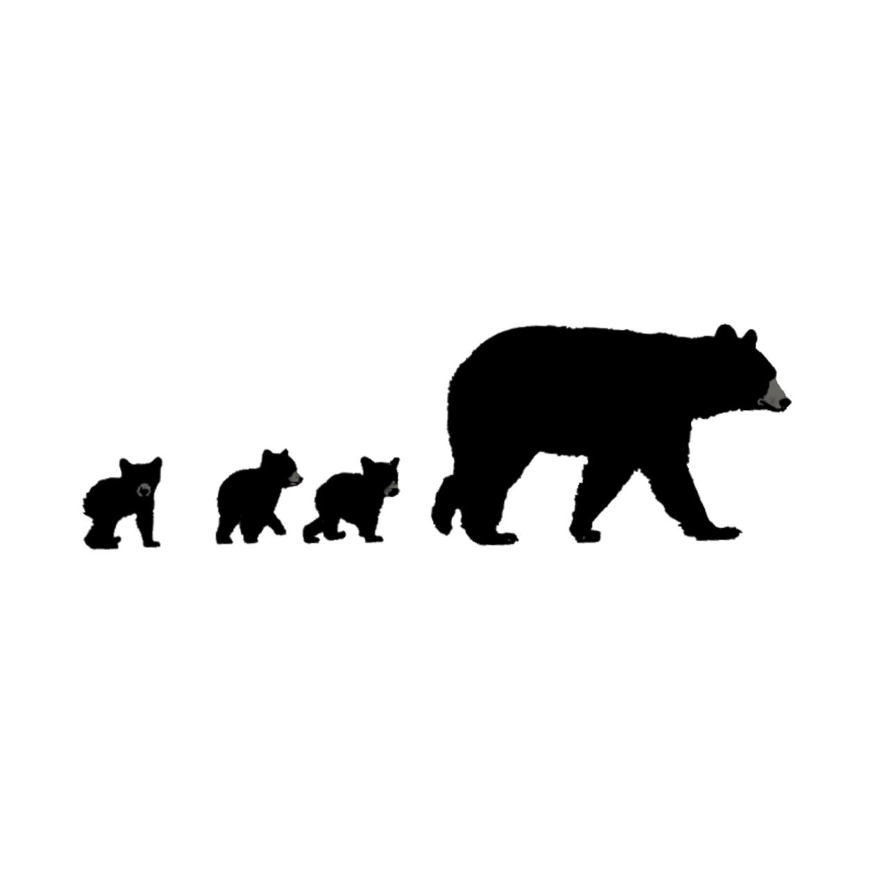 Bear Wall Stickers Mama Bear And Her Cubs Mama Bear And Cubs Mug Teepublic