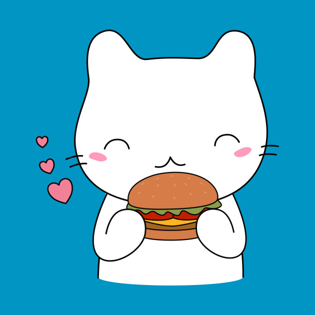 Cute cat on burger T-Shirt