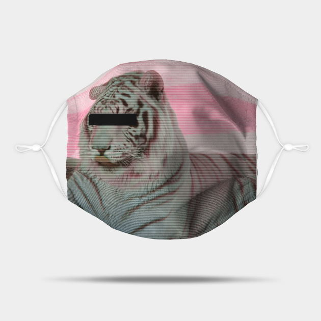 Vaporwave tiger