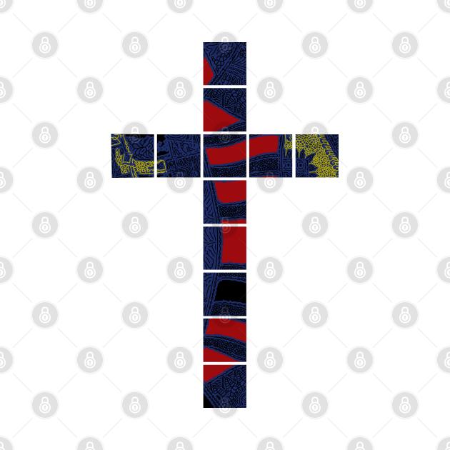 Cool Christian Cross Batik Motif