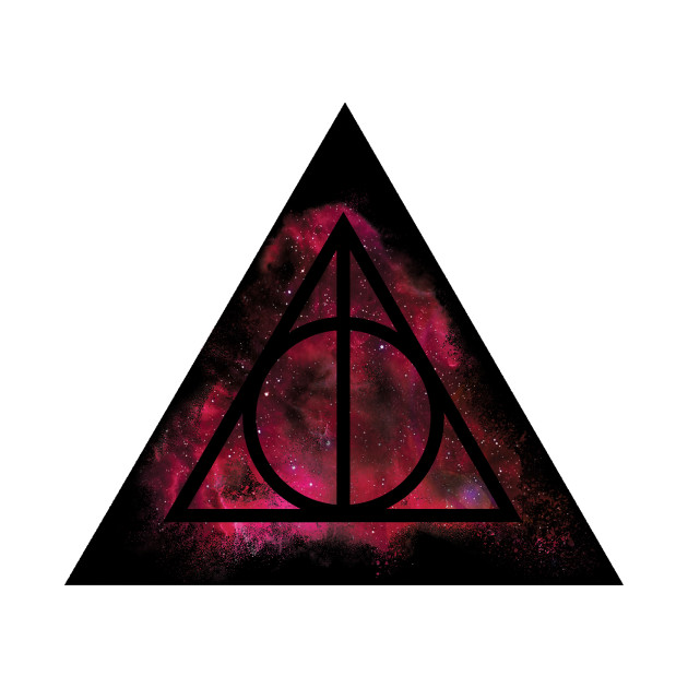 Harry Potter Deathly Hallows Galaxy Sand Explosion Triangle Red