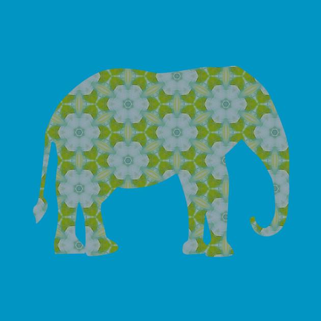 Floral Wild Elephant