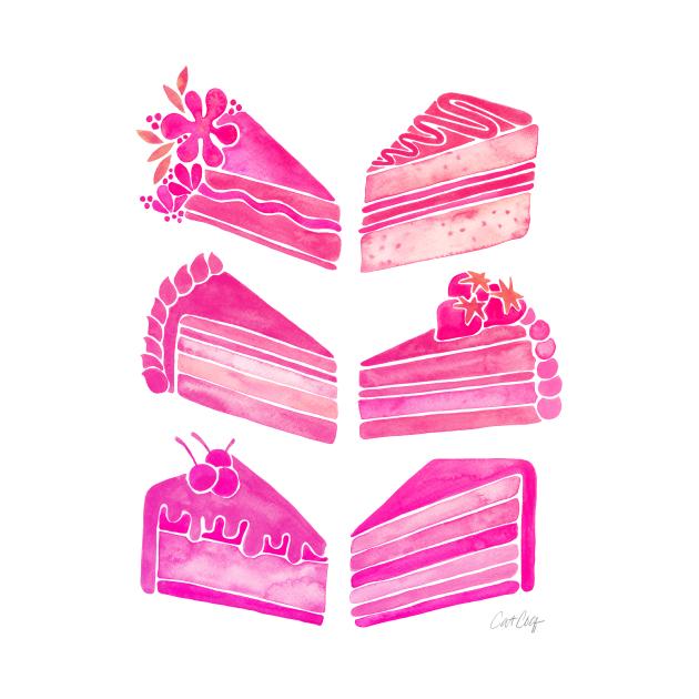 Pink Cake Slices