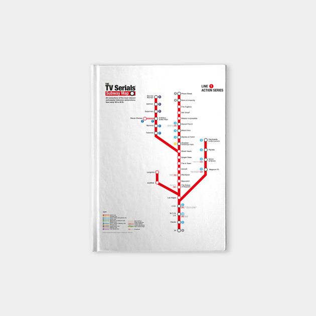 Subway Map Paper Products.The Tv Serials Subway Map Red Line 1 Action Series