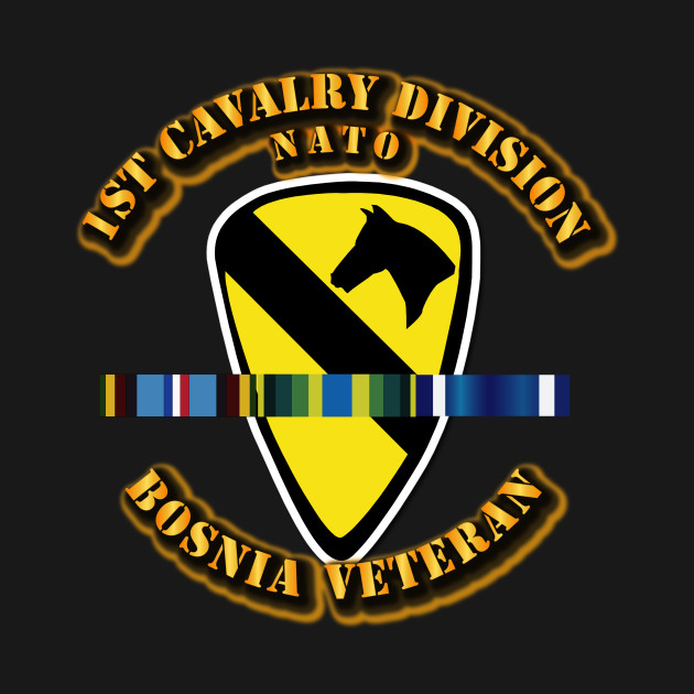 1st Cavalry Division w Bosnia SVC Ribbons