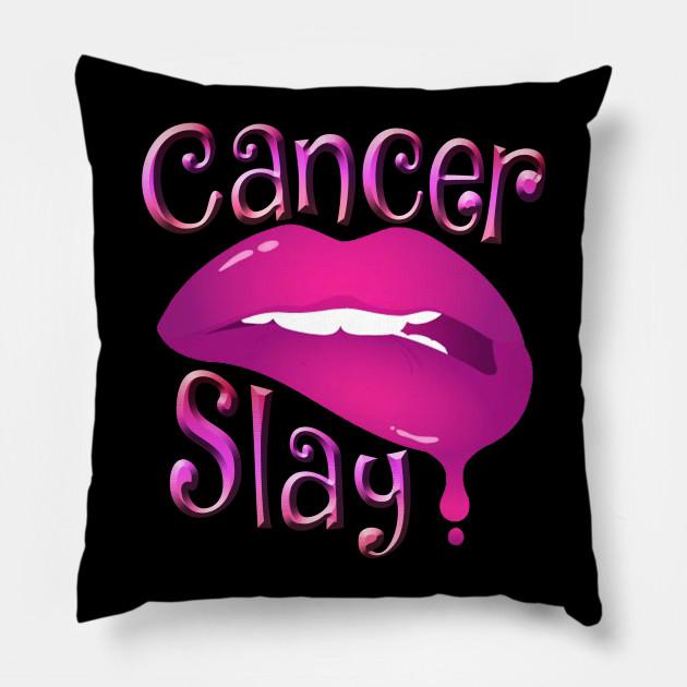 Zodiac Cancer Slay Pink Lips Pillow